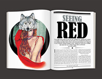Seeing Red- Editorial Illustration & Layout