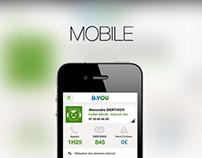 B&YOU Mobile App (concept)