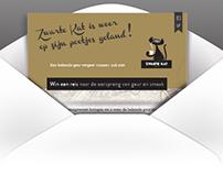 email design: Zwarte Kat koffie, sinds 1804