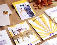 Barn Yard Boggie Bespoke Wedding Invitation