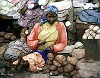 Potato Seller, Kenya
