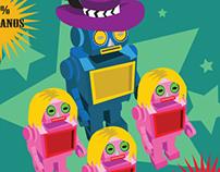 """Pimp-Bot"" vector poster"