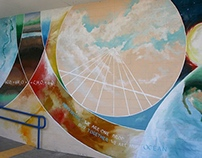 Mural for Beyond War | Churchill Highschool