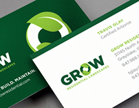 GROW Residential Landscaping Identity