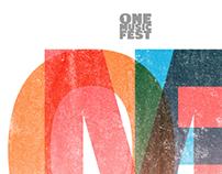 one musicfest wine label