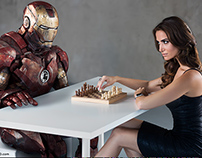 Iron Man Grounded - Playing Chess