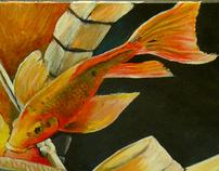 Ying Yang goldfish, but not really.