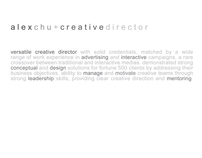 alex chu | creative director | campaign