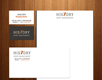 His7ory logo & corporate design