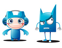 Character Blue Design