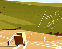 The Long Man of Wilmington - graphic illustration