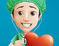 Surgeon Cartoon Character