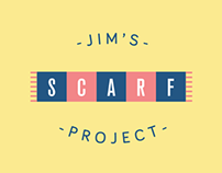 Website for local artist Jim Giles' scarf project