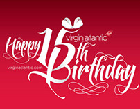 Virgin Atlantic wrapping paper