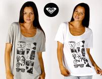 Roxy Quiksilver placement prints