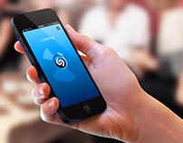 Test work: Landing page for Shazam mobile app
