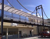Steel Suspended Pedestrians Bridge