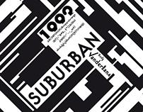 Suburban // Typographic poster