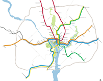 Washington Metro Map to Scale
