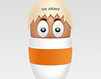 Family heads egg | Photoshop