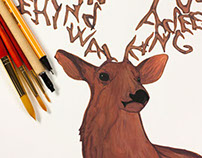 Calligraphy – alphabet inspired by deer antlers