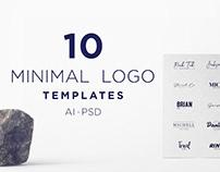 Mountain 10 Free Minimal Logo Templates PSD | AI