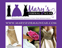 Rack Card - Mary's Formalwear