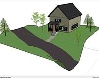 Sketchup: house rendering