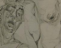 study on JENNY SAVILLE's ''Ruben's Flap''