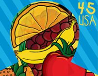 Stop Childhood Hunger - Stamp Design