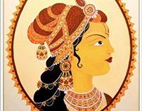 Mughal Queen Mural