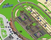 NASCAR ChicagoLand Speedway Map