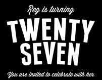 Reg is 27