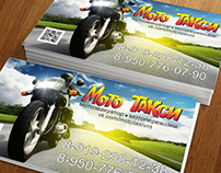 """BUSINESS CARD DESIGN for """"Moto Taxi"""""""