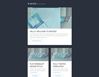 Flat minimalist email template - ERTEDE
