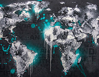 "World Map Design ""Ice World"""
