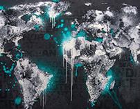 "World Map Design ""Ice World"""