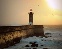 Lighthouses in a Stormy Day
