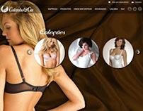 Projeto, desenho e montagem site Calcinha & Cia