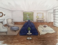 Rendering for Amie Corley Interiors