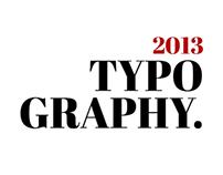 Typography 2013