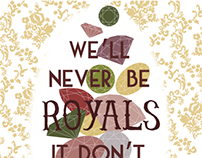 "Lorde ""Royals"" Song Poster"