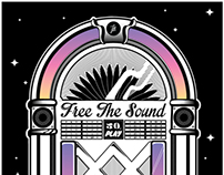 FREE THE SOUND (POSTER & T-SHIRT DESIGN)