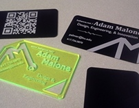 Lasercut Aluminum Business Cards