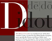 Font Poster - Didot