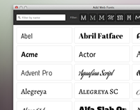 Adobe Muse Font Features