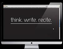 think. write. recite.