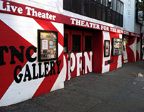 Designed and painted exterior: Theater for the New City