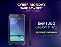 Cyber Monday Samsung J1-Ace Micro Site
