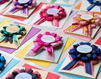 Handmade Bespoke Rosette Greeting Cards